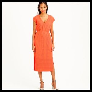 J. Crew The Perforated Drapey Side Slit Dress
